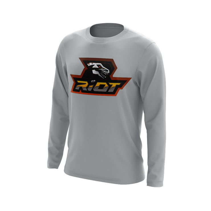 Hudson Valley Raptor Riot Long Sleeve Grey Semi Dye