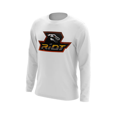 Hudson Valley Raptor Riot Long Sleeve White Semi Dye