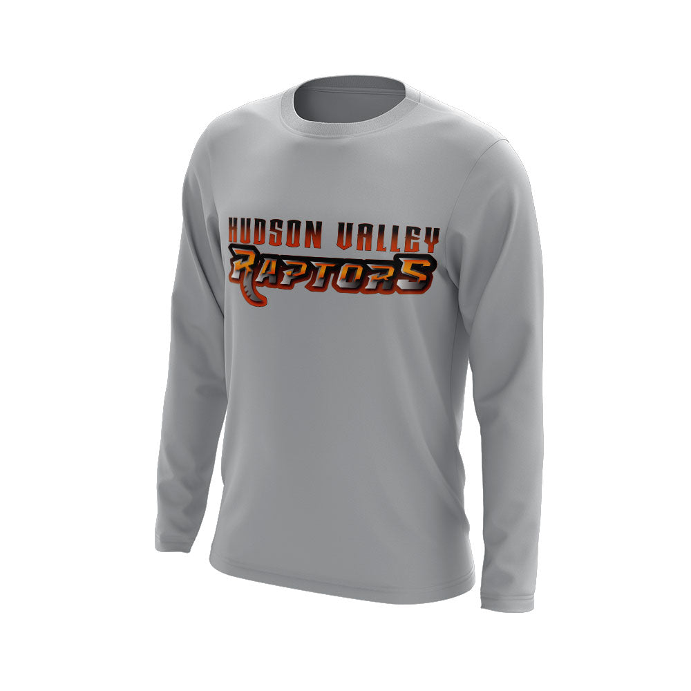 Hudson Valley Raptor Wordmark Long Sleeve Grey Semi Dye