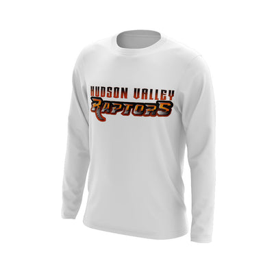 Hudson Valley Raptor Wordmark Long Sleeve White Semi Dye