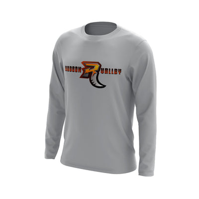 Hudson Valley Wordmark with R Long Sleeve Grey Semi Dye