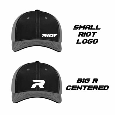 Pacific 404M Hat with Riot Logo (Choose your hat, logo & thread color)