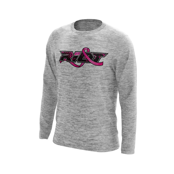 Silver Electric Long Sleeve with BCA Riot Logo
