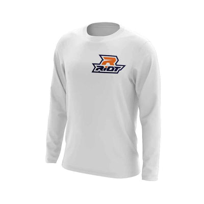 Navy Blue/Orange Riot Logo
