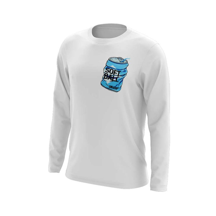 **NEW** White Long Sleeve Shirt with Softball Facts Riot Logo