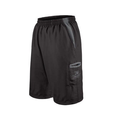 Black Shorts with Charcoal Riot Logo