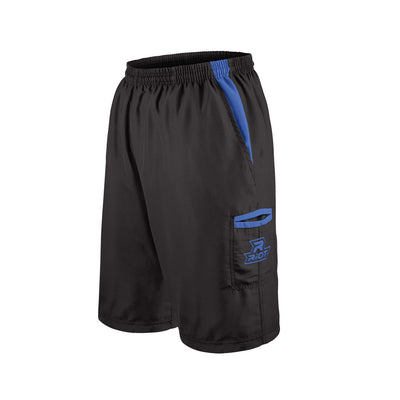 Black Shorts with Royal Blue Riot Logo