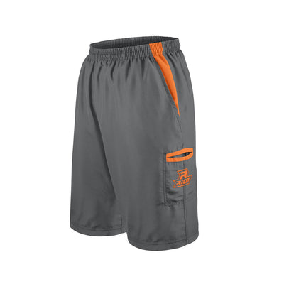 Charcoal Shorts with Orange Riot Logo