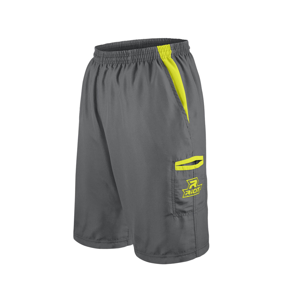 Charcoal Shorts with Volt Riot Logo