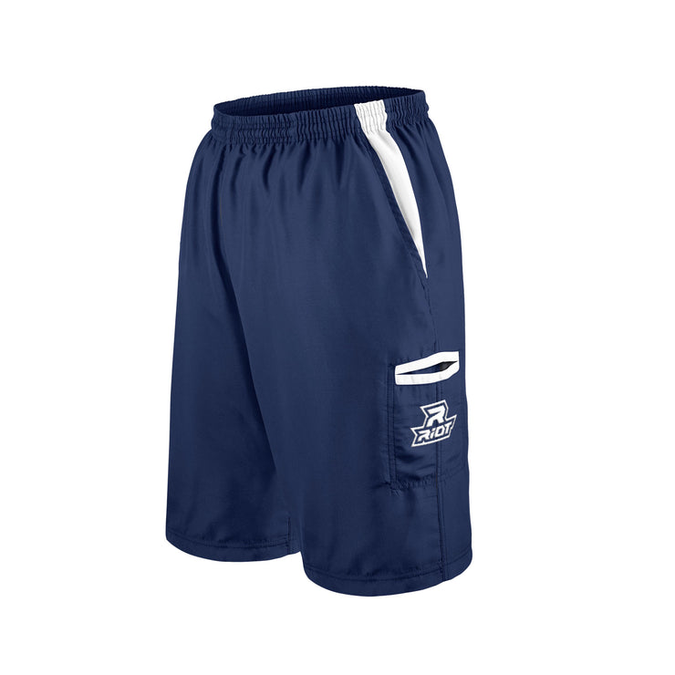 Navy Blue Shorts with White Riot Logo