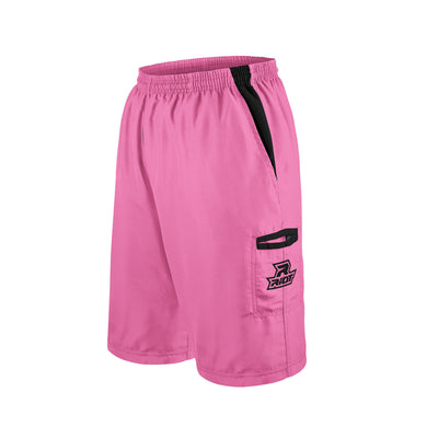 Pink Shorts with Black Riot Logo