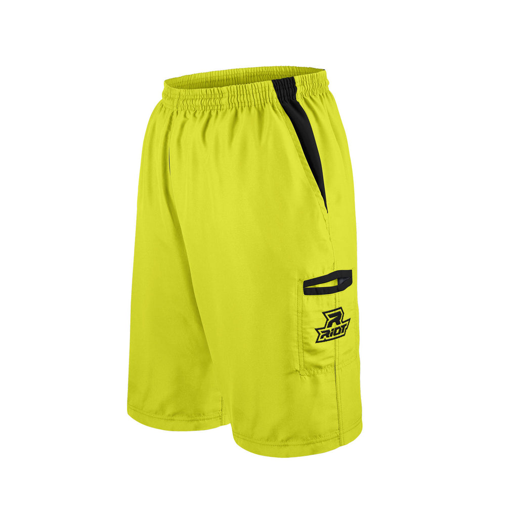 Volt Shorts with Black Riot Logo