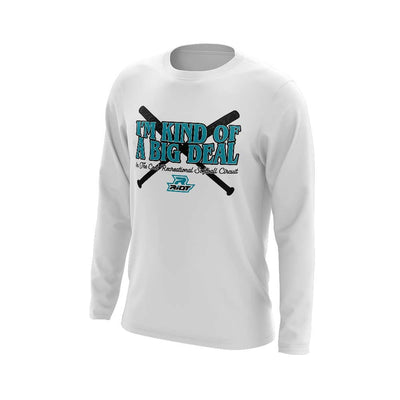 **NEW** White Long Sleeve Shirt with COED Big Deal Riot Logo