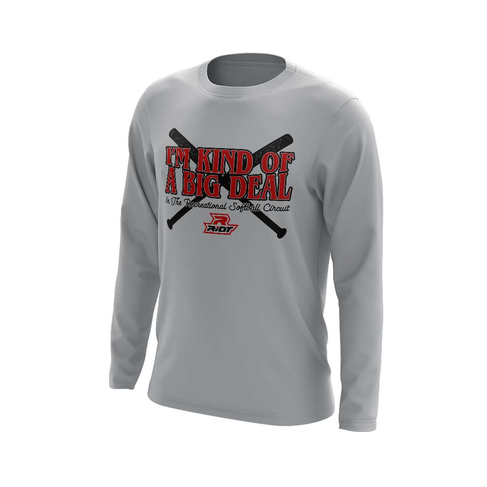 **NEW** Grey Long Sleeve Shirt with Big Deal Riot Logo
