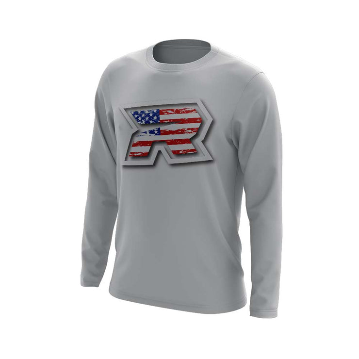**NEW** Long Sleeve with USA R Logo - Choose your shirt color