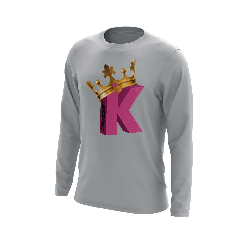 **NEW** Grey Long Sleeve with Strikeout King Riot Logo - Choose your logo color