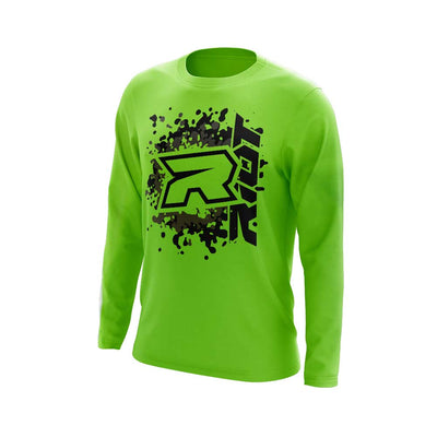 **NEW** Highlighter Series Neon Green Long Sleeve with Riot Logo