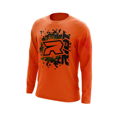 **NEW** Highlighter Series Neon Orange Long Sleeve with Riot Logo