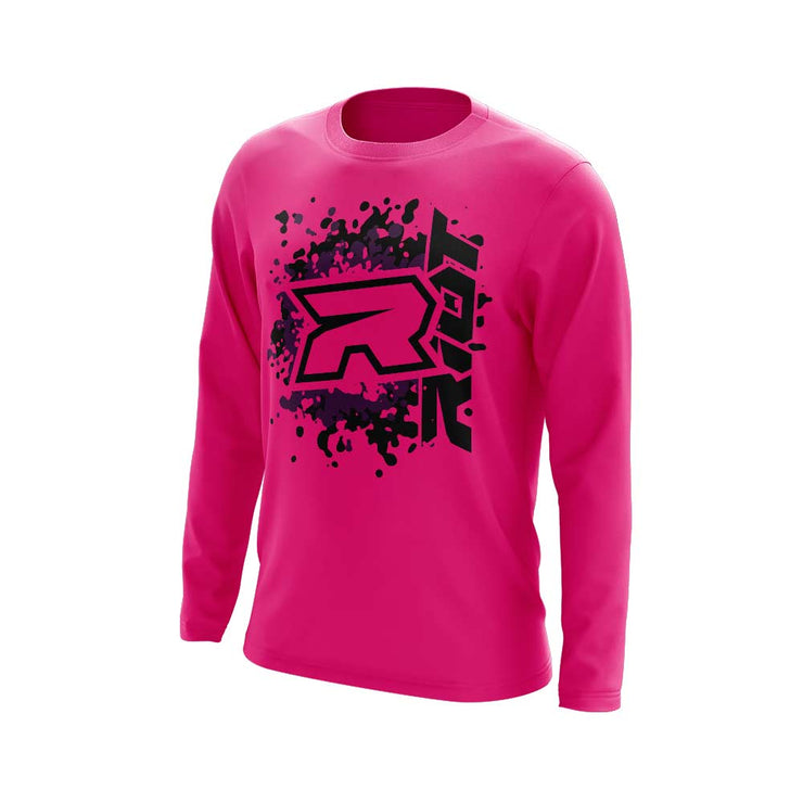 **NEW** Highlighter Series Neon Pink Long Sleeve with Riot Logo