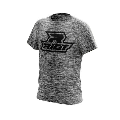 Black Electric Short Sleeve with Black Riot Logo
