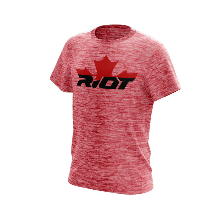 Red Electric Short Sleeve with Canada Riot Logo
