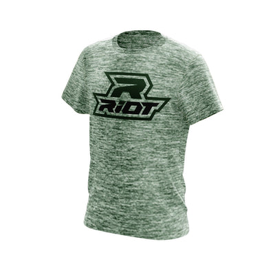 Forest Green Electric Short Sleeve with Forest Green Riot Logo