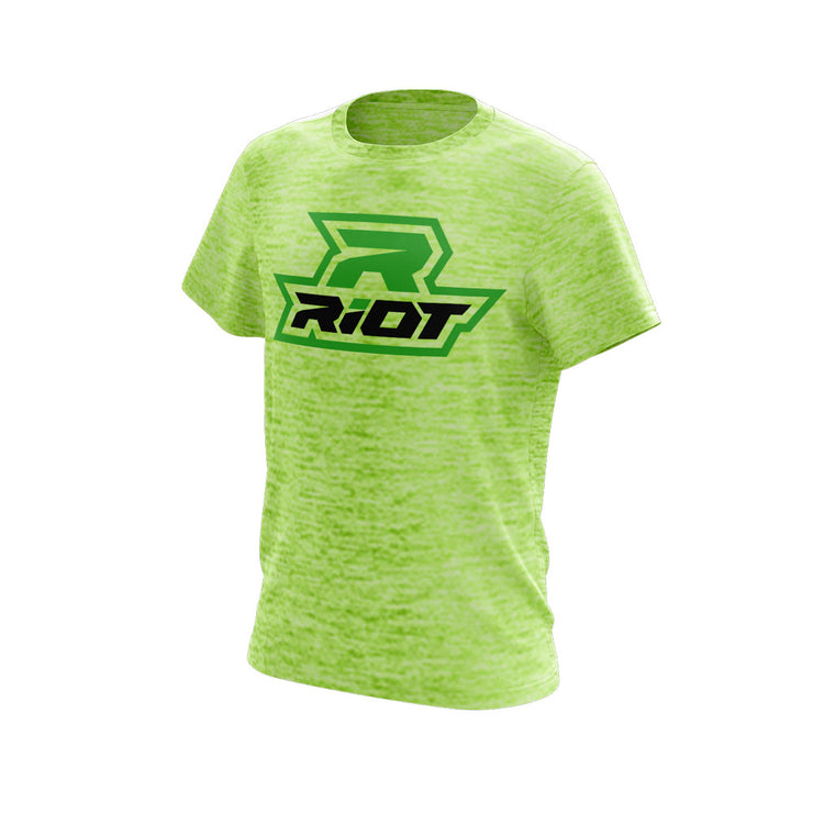 Lime Shock Electric Short Sleeve with Lime Green Riot Logo