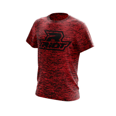 Deep Red-Black Electric Short Sleeve with Black Riot Logo