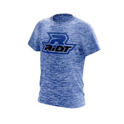 Royal Blue Electric Short Sleeve with Royal Blue Riot Logo