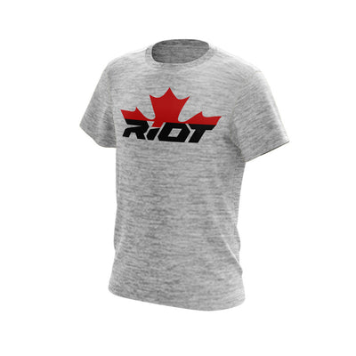 Silver Electric Short Sleeve with Canada Riot Logo