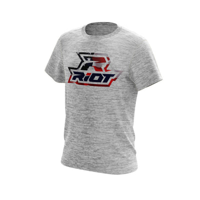 Silver Electric Short Sleeve with USA Riot Logo