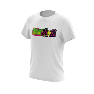 White Short Sleeve Shirt with Aftershock 9U Logo
