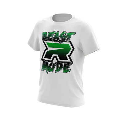 White Short Sleeve Shirt with Beast Mode Riot Logo