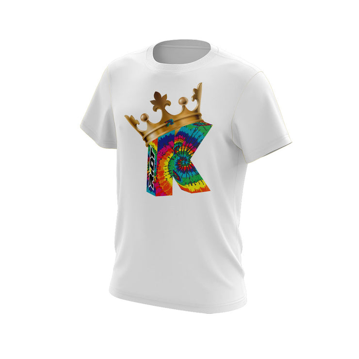 White Short Sleeve with Strikeout King Riot Logo - Choose your logo color