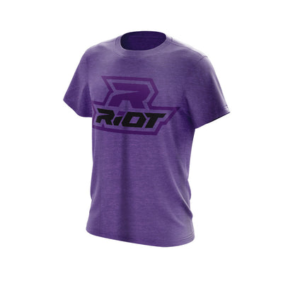 Heather Purple Triblend Short Sleeve with Black & Purple Riot Logo