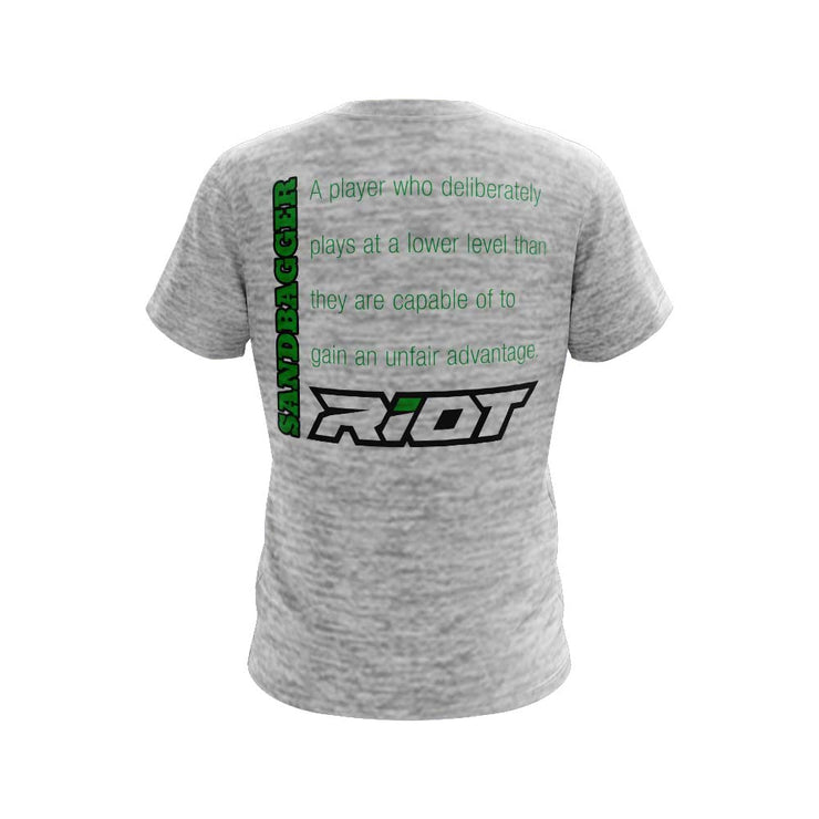 Silver Electric Short Sleeve with Sandbagger Riot Logo