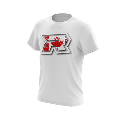 White Short Sleeve with Canada White R Riot Logo