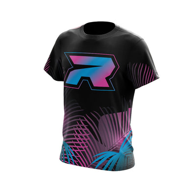 Pink/Blue/Black Tropical Riot Full Dye Jersey - Long or Short Sleeve