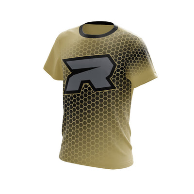 Vegas/Silver HoneyComb Riot Full Dye Jersey - Long or Short Sleeve