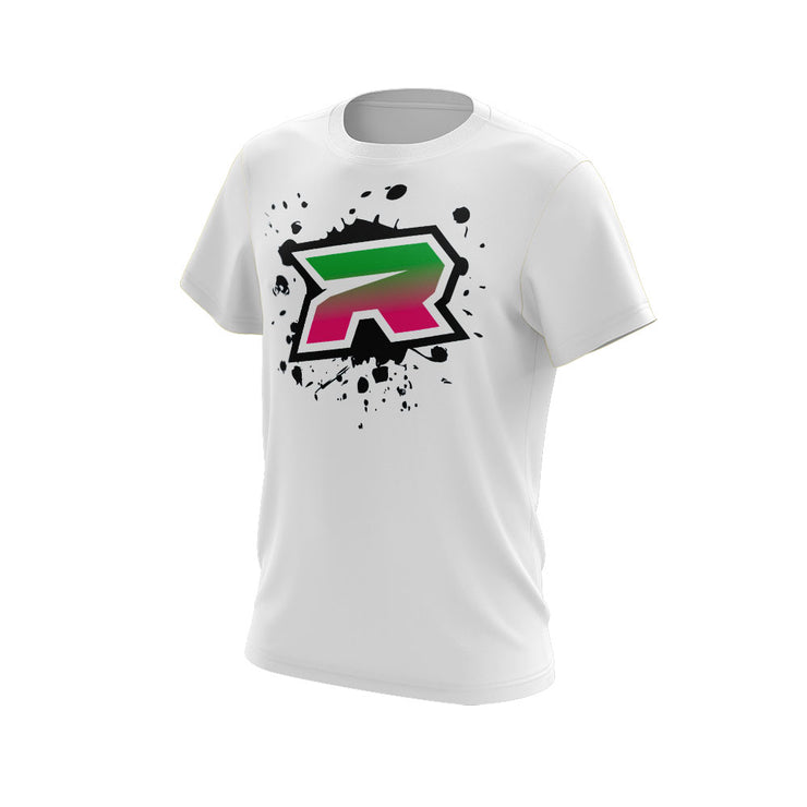 Pink Green Black Riot Logo