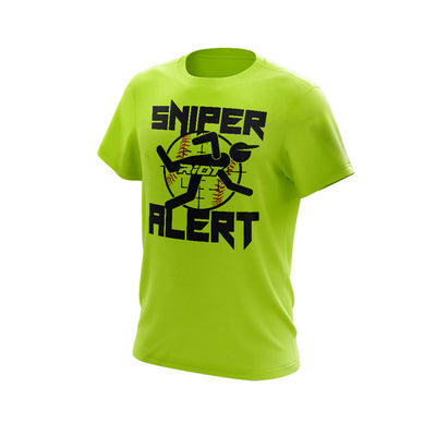 Neon Yellow Short Sleeve with Sniper Alert Riot Logo