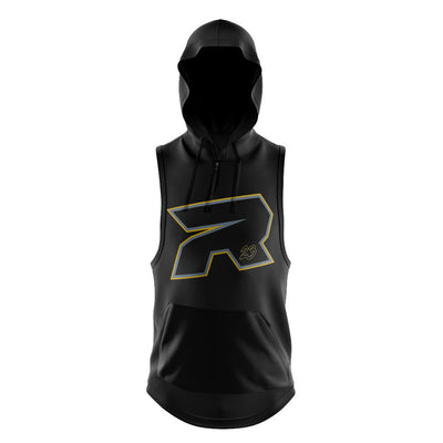 **BUY IN** Full Dye Sleeveless 1/4 Zip Hooded Silver & Gold Riot Blackout Shirt - Customizable