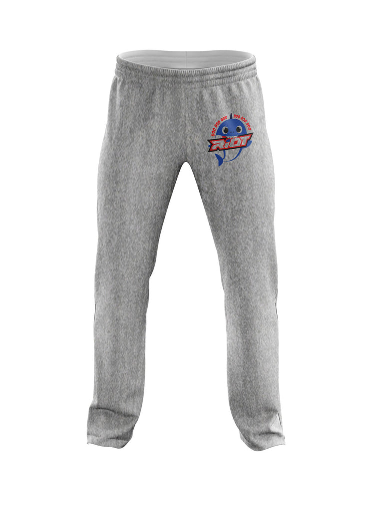 Heather Grey Sweatpants with Baby Shark Boy Riot Logo