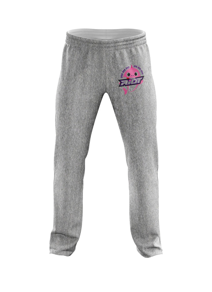 Heather Grey Sweatpants with Baby Shark Girl Riot Logo