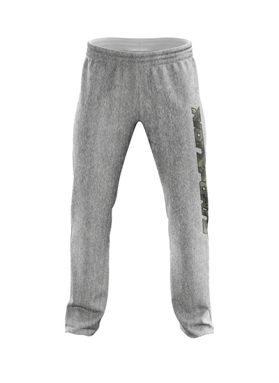 Heather Grey Sweatpants with Camo Riot Logo