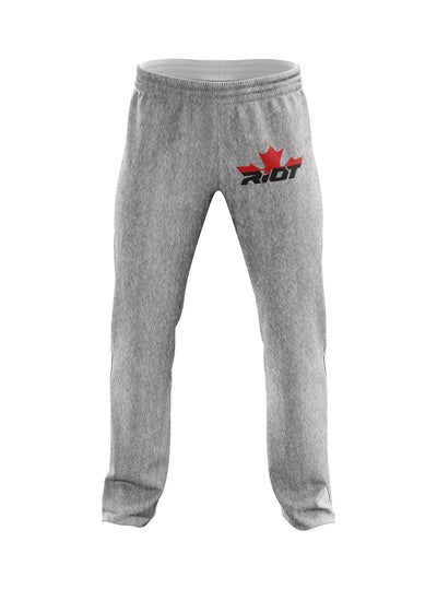 Heather Grey Sweatpants with Canada Riot Logo