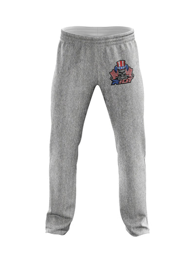 Heather Grey Sweatpants with USA Skull & Guns Riot Logo