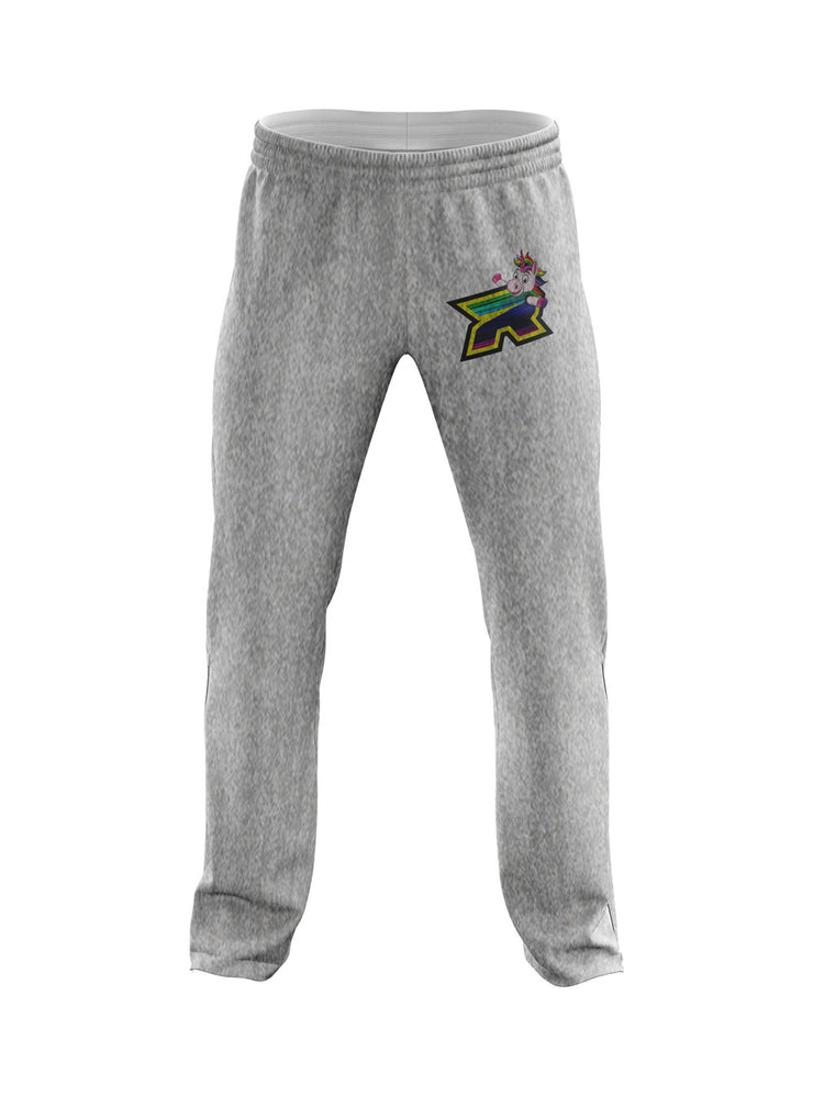 Heather Grey Sweatpants with Unicorn Riot Logo