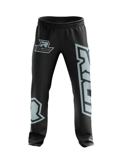 Full Dye Black/Silver Riot Sweatpants