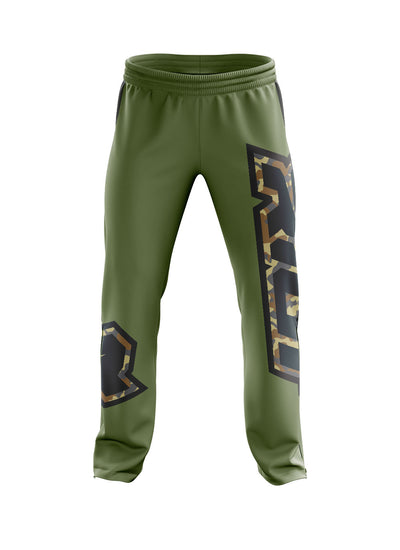 Full Dye Green Camo Riot Sweatpants